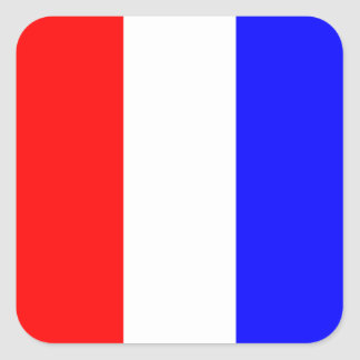 Nautical Flag Signal Letter T (Tango) Square Sticker