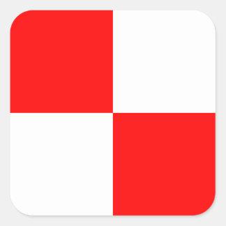 Nautical Flag Signal Letter U (Uniform) Square Sticker