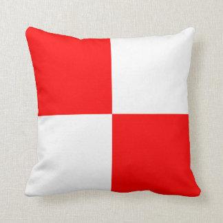 Nautical Flag Signal Letter U Uniform Throw Pillows