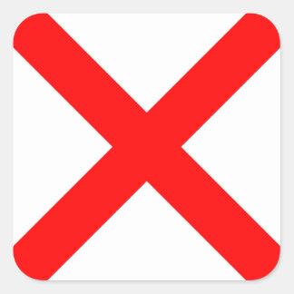Nautical Flag Signal Letter V (Victor) Square Sticker