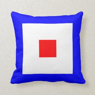Nautical Flag Signal Letter W Whiskey Throw Pillows