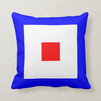 Nautical Flag Signal Letter W Whiskey Throw Pillow