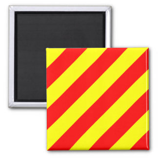 Nautical Flag Signal Letter Y (Yankee) 2 Inch Square Magnet