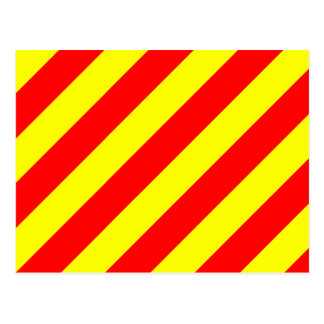 Nautical Flag Signal Letter Y (Yankee) Postcard