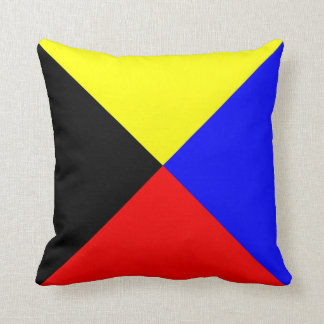 Nautical Flag Signal Letter Z Zulu Throw Pillows