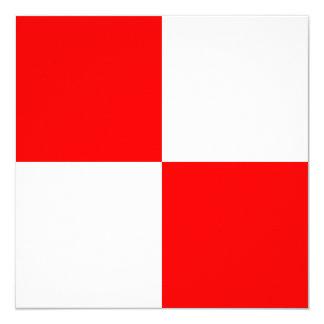 Nautical Flag Signal Uniform Letter U Card