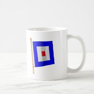 Nautical Flag 'W' Coffee Mugs