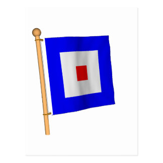 Nautical Flag 'W' Postcard