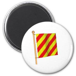 Nautical Flag 'Y' 2 Inch Round Magnet