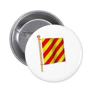 Nautical Flag 'Y' Pinback Button