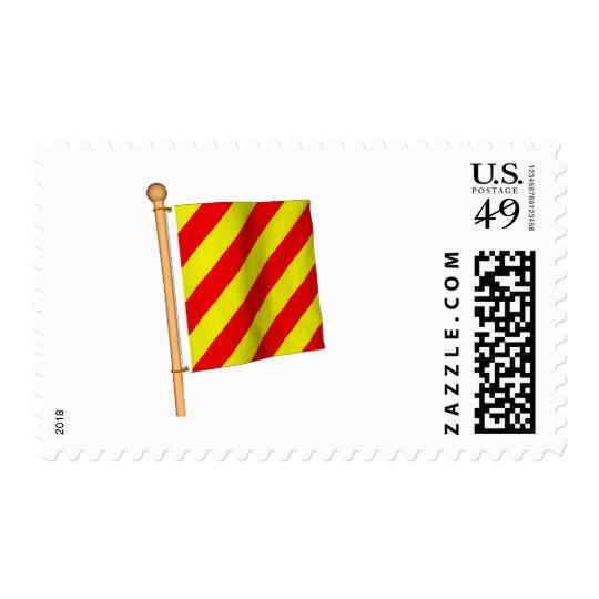 Nautical Flag 'Y' Postage Stamp