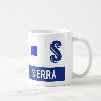 "Nautical Flags Alphabet ""S"" Sierra Coffee Mug"