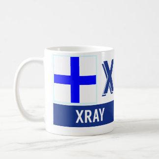 "Nautical Flags Alphabet ""X"" Xray Coffee Mug"
