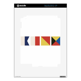 Nautical Flags Decal For iPad 2
