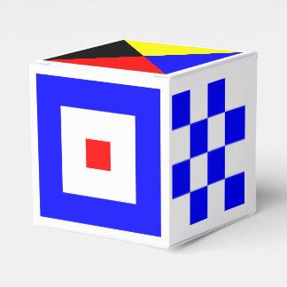 Nautical Flags Favor Box