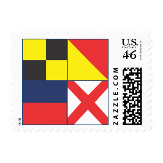 Nautical Flags LOVE Postage