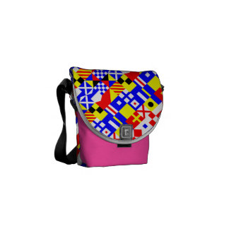 Nautical Flags Pattern Courier Bag