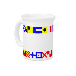 Nautical Flags Beverage Pitchers