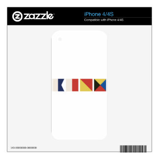 Nautical Flags Skins For iPhone 4