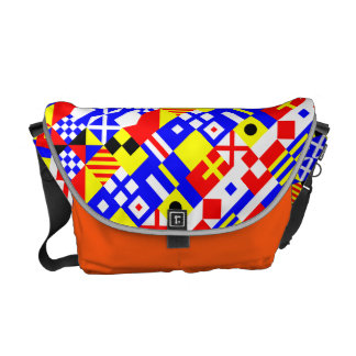 Nautical Flags Symbols Courier Bags