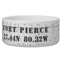 Nautical Fort Pierce Inlet FL Latitude Longitude Bowl