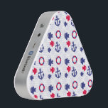 """Nautical Fun on Blue Bluetooth Speaker<br><div class=""""desc"""">Adorable anchors,  fish,  and life preserver rings on a fun background of pale blue dots</div>"""