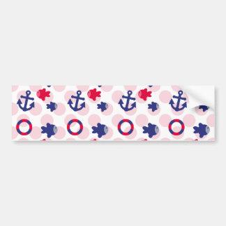 Nautical Fun on Red Bumper Sticker