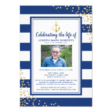 Nautical Funeral | Celebration of Life Photo Invitation