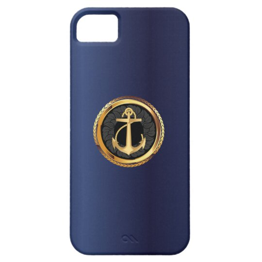 blue iphone 5 case nautical gold anchor navy blue iphone 5 zazzle 5766