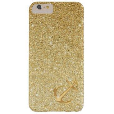 Nautical Gold Glitter Anchor iPhone 6 Plus Case