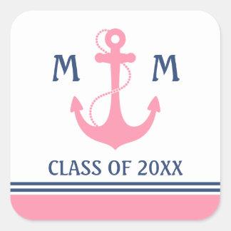 Nautical Graduation Square Sticker