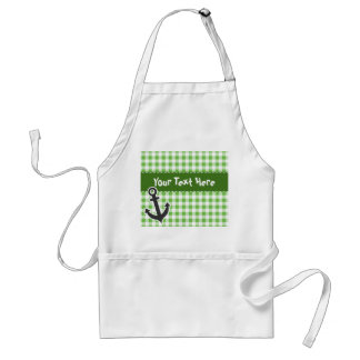 Nautical Green Gingham Adult Apron