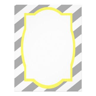 Nautical Grey Stripes Border Flyer