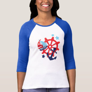 Nautical Group in Red and Blue T-Shirt