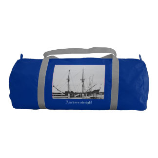 Nautical gym bag with ships