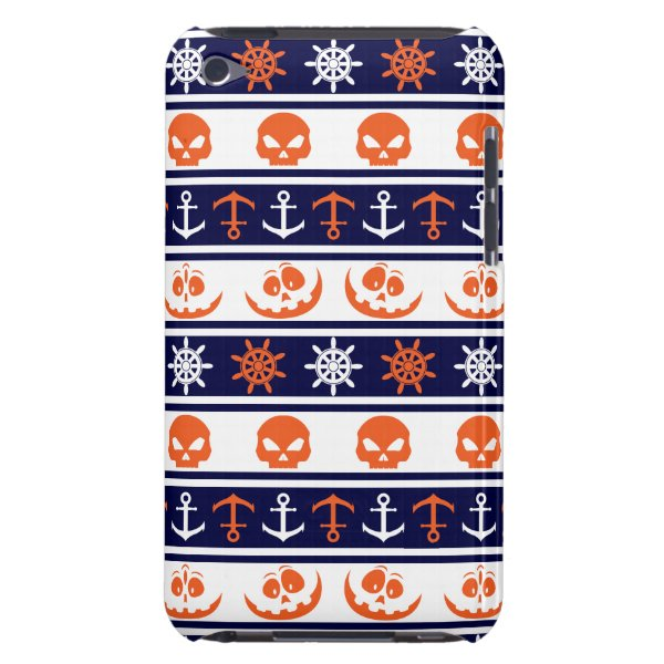 Nautical Halloween pattern Barely There iPod Case