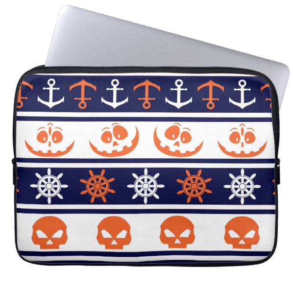 Nautical Halloween pattern Computer Sleeve