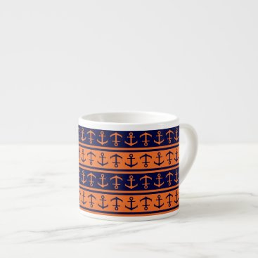 Halloween Themed Nautical Halloween pattern Espresso Cup
