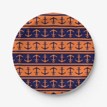 Halloween Themed Nautical Halloween pattern Paper Plate