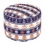 Nautical Halloween pattern Pouf