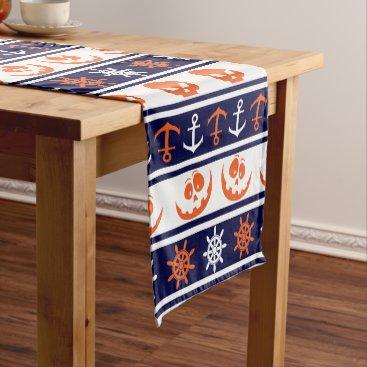 Halloween Themed Nautical Halloween pattern Short Table Runner