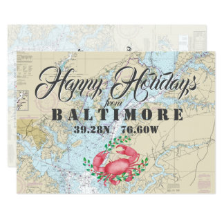 Nautical Happy Holidays from Baltimore Card
