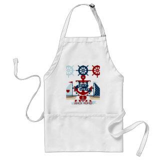 Nautical Hello Sailor Anchor Sail Boat Design Adult Apron