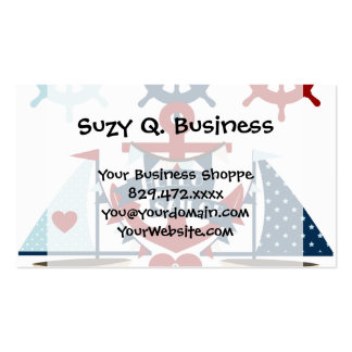 Nautical Hello Sailor Anchor Sail Boat Design Business Cards