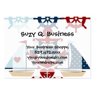 Nautical Hello Sailor Anchor Sail Boat Design Business Card Templates