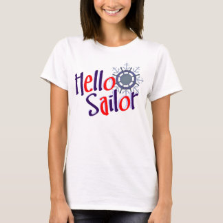 Nautical Hello sailor sailing tshirt