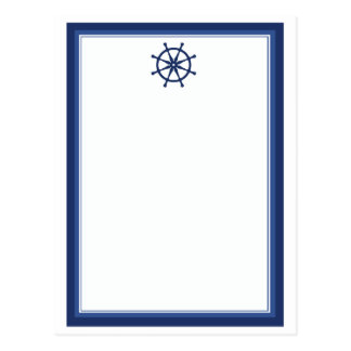 Nautical Helm Postcard