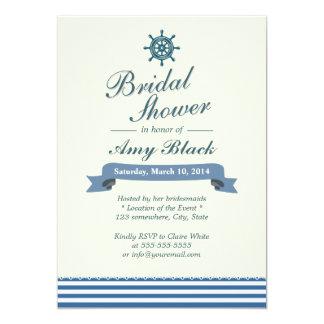 Nautical Helm Wheel Bridal Shower Invitations