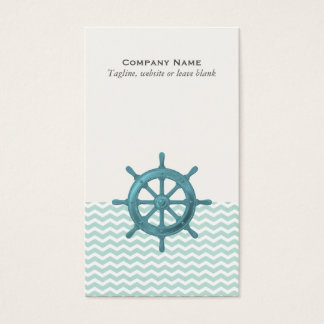 Nautical Helm with Chevron Pattern Business Card