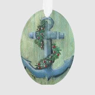 Nautical Holiday Anchor Ornament